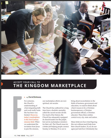 Accept Your Call to the Kingdom Marketplace - Christ for the Nations