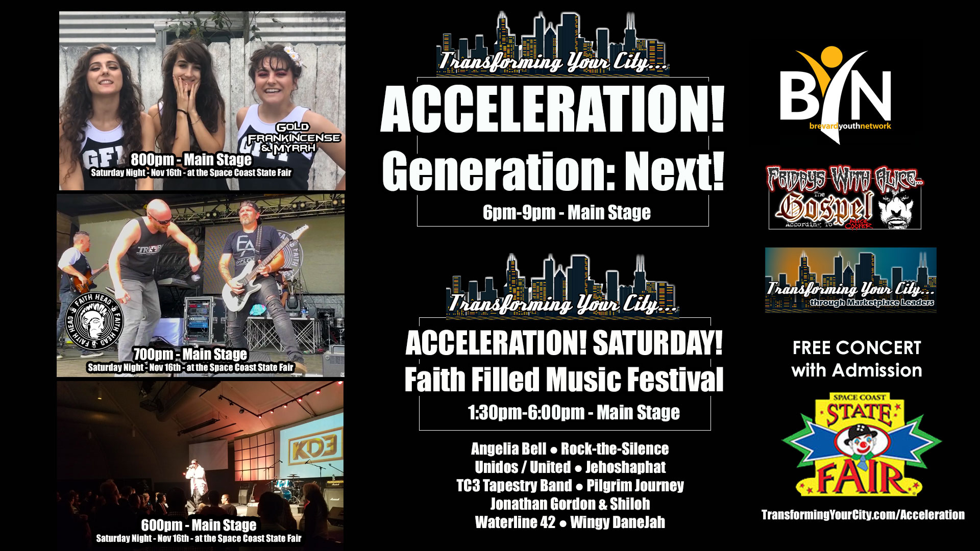 Acceleration! Saturday! Faith Filled Music Festival